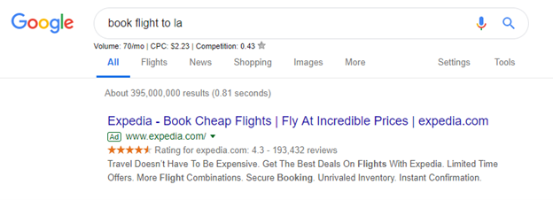 Example of Pay Per Click Advertising