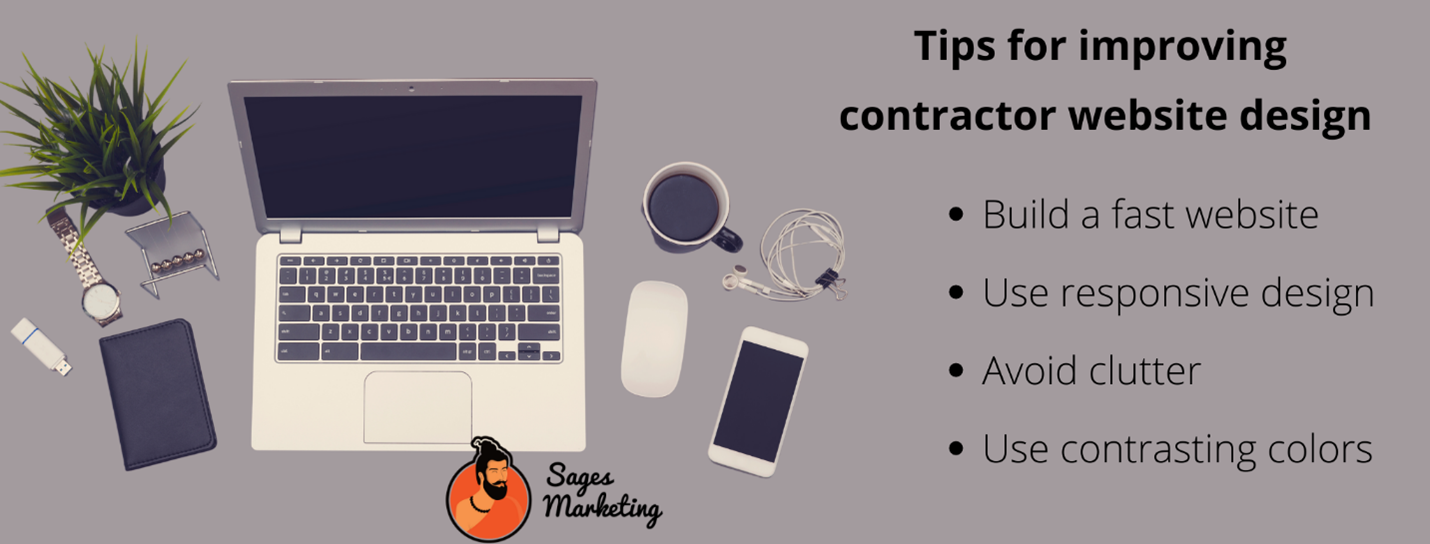 Four tips for improving contractor website design