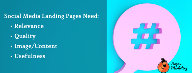 Social media landing pages